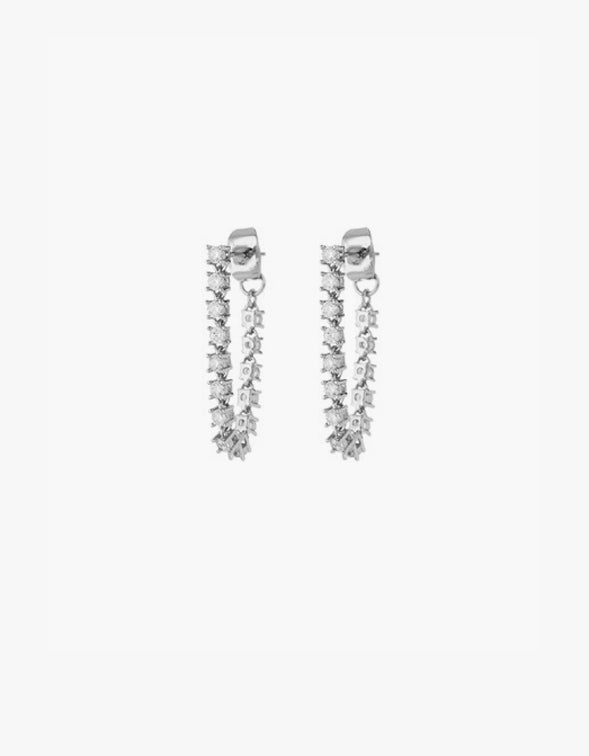 Ballier Chain Studs - Silver Plated