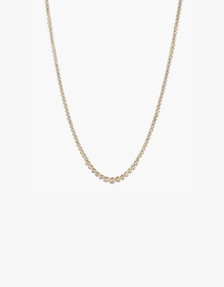 The Ballier Bezel Tennis Necklace