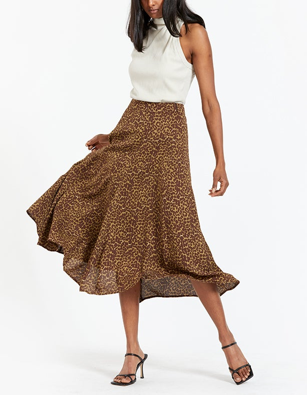 Quinci Skirt - Camouflage Leopard
