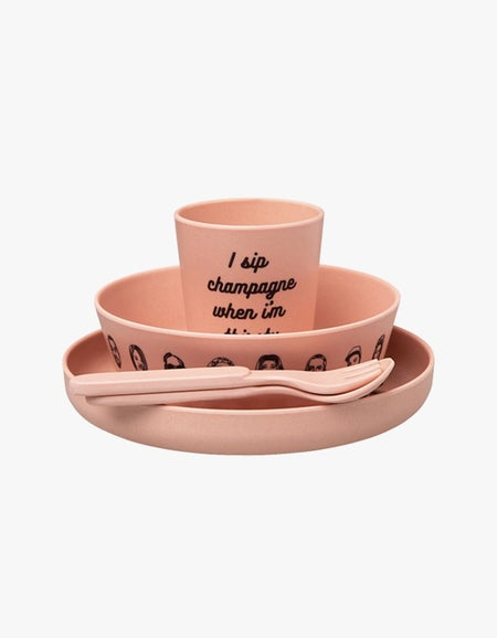 Eat Was All A Dream Bamboo Dinner Set - Big Pinkin