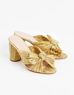 Penny Knot Mule - Gold