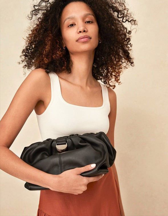Analeigh Clutch - Black Nappa