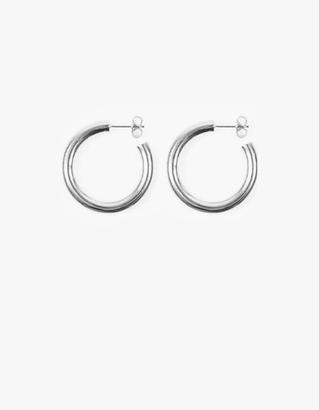 Classic Hoop Large - Silver