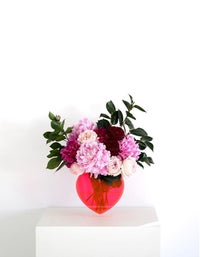 Queen Of Hearts Vase & Stand - Clear