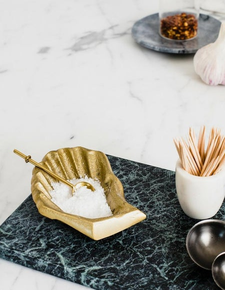 Oyster Spice Vessel - Gold