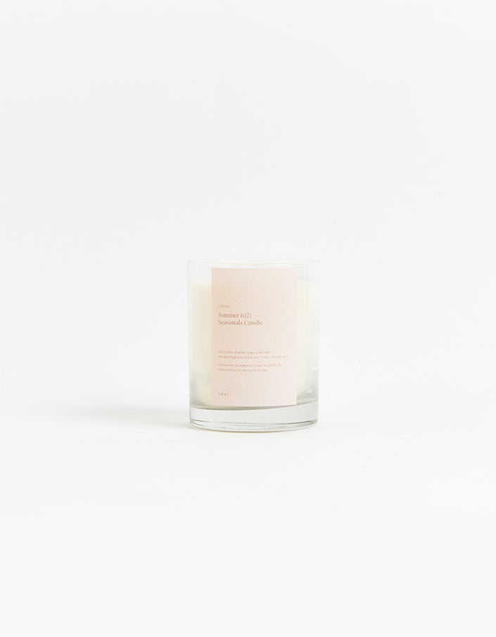 Summer Candle Wild Bluebell Sage Flower and Sea Salt - White