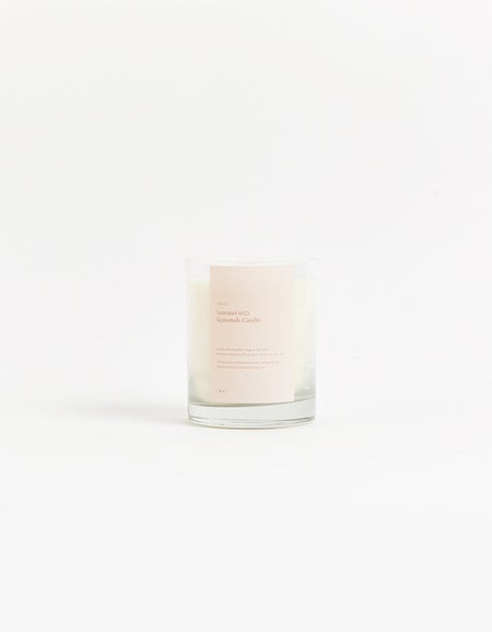 Spring Candle Peony Mint and Geranium - White