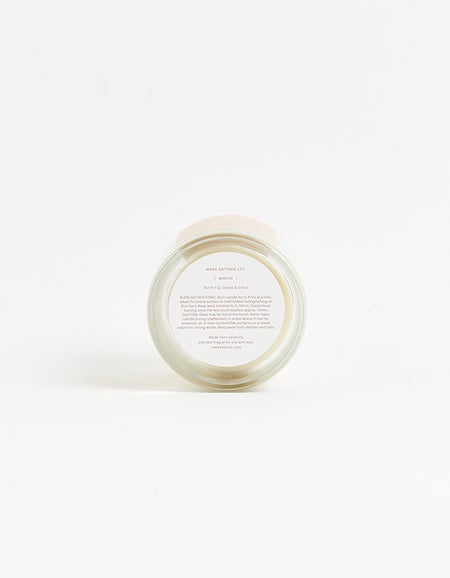 Winter Candle Burnt Fig Cassis and Citrus - White