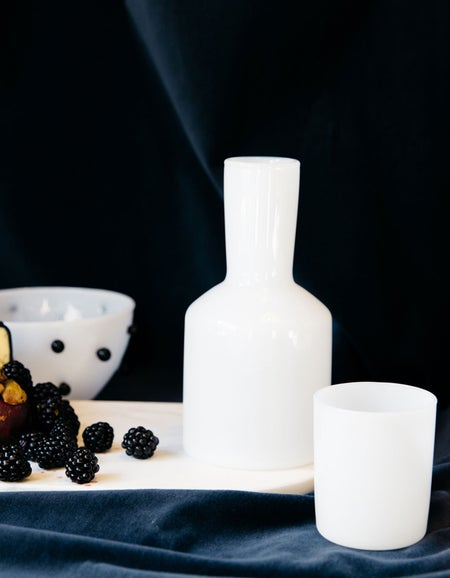 Carafe and Glass - Opaque White