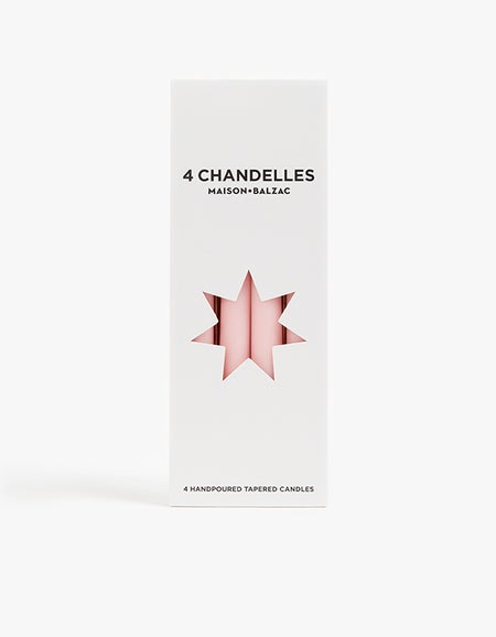 Chandelles Tapered Candles Pack of 4 - Pink