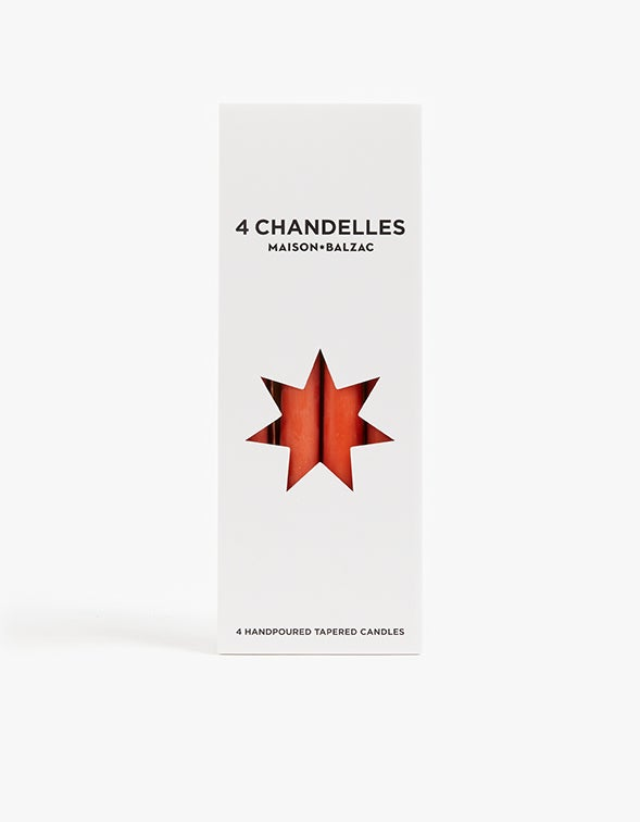 Chandelles Tapered Candles Pack of 4 - Amber
