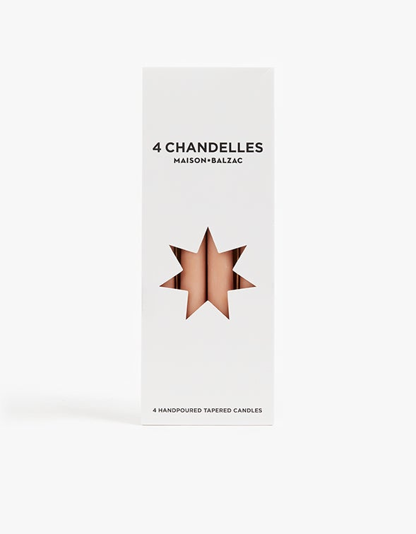 Chandelles Tapered Candles Pack of 4 - Sable