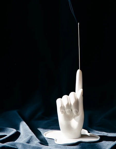 The Marble Hand Incense Holder - White