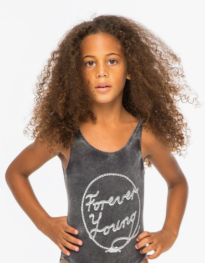 Forever Young Bodysuit - Charcoal