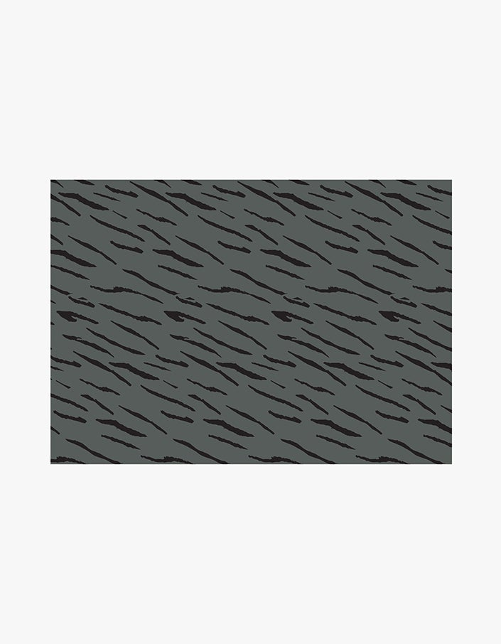 Tiger Stripes Wrapping Paper - Charcoal/Black