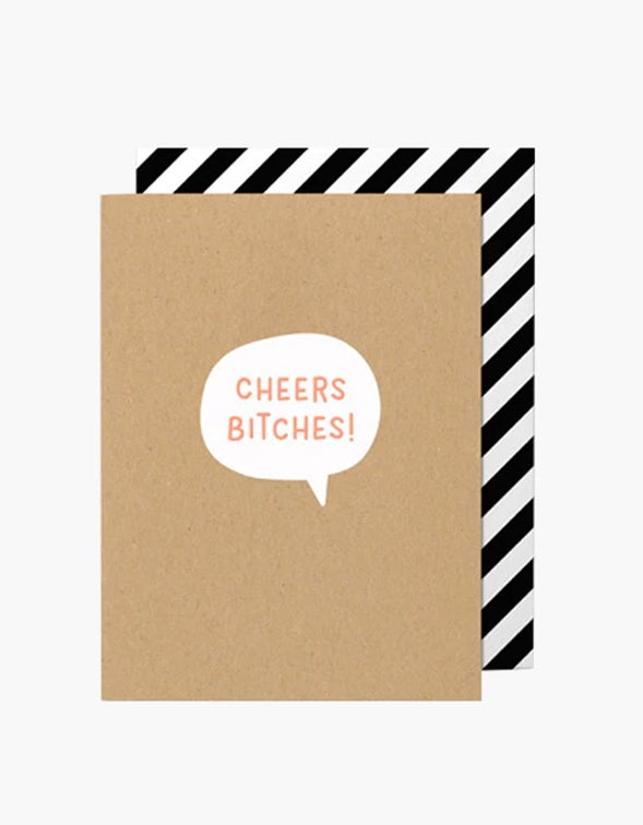Cheers Bitches Card - Brown Craft