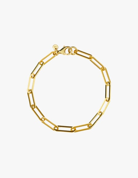 Paperclip Heavy Bracelet - Gold Plated