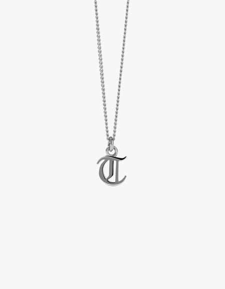 Mini Letter Charm Necklace - Gold Plated