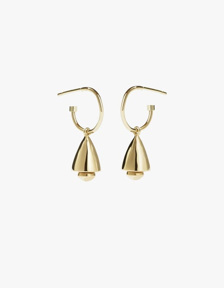 Bell Endless Hoops - Gold Plated