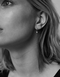 Micro Star Signature Hoop Earrings - Gold Plated