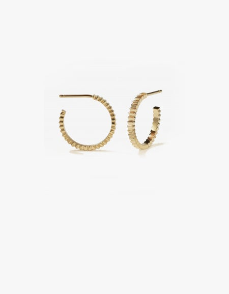 Solaire Hoops Medium - Gold Plated