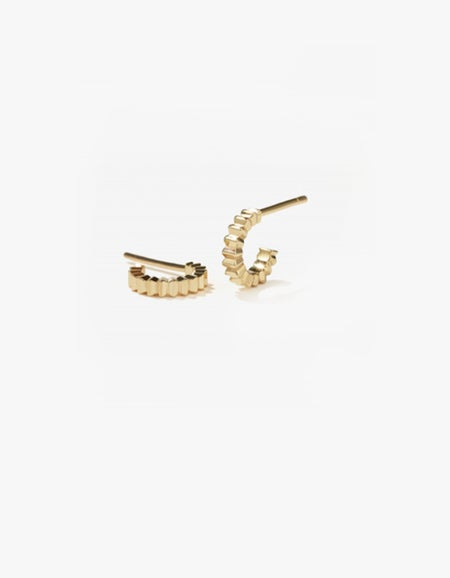 Solaire Hoops Small - Gold Plated