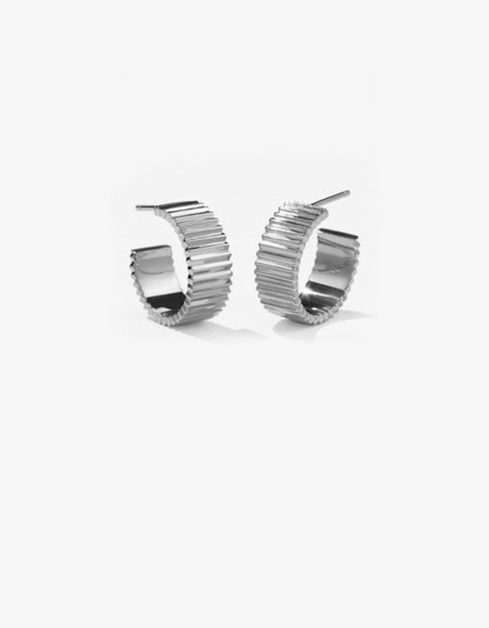Solaire Hoops Wide - Sterling Silver