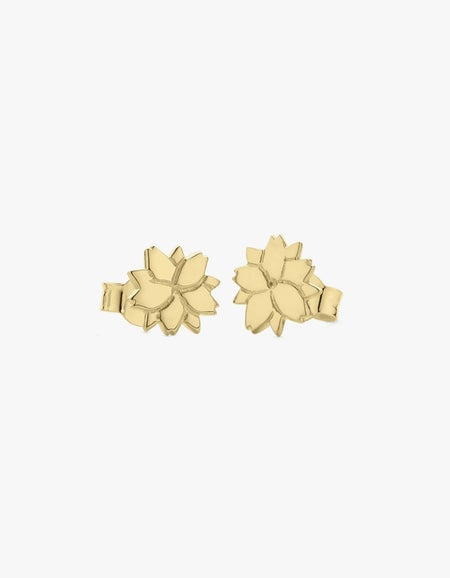 Cherry Blossom Studs Earrings - Gold Plated