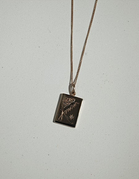 Amour Necklace - Gold Plated/Reclaimed White Diamond
