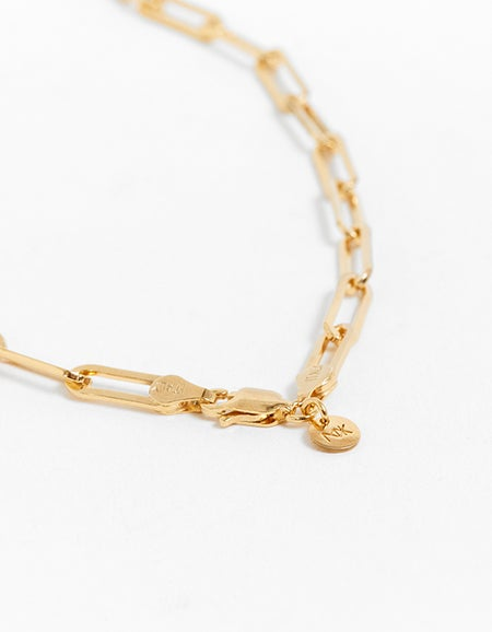Meadowlark x Superette Camille Paperclip Necklace - Gold Plated