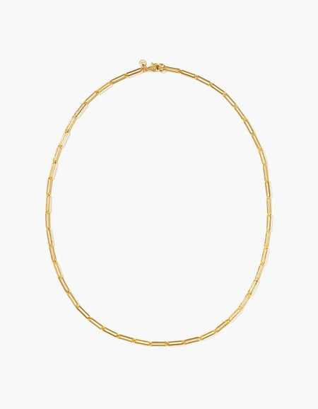 Paperclip Light Necklace - Gold Plated