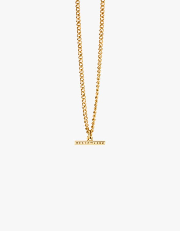 Petite Fob Chain Necklace - Gold Plated