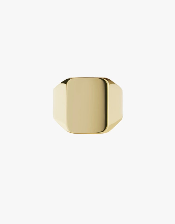 Fairfax Signet Ring - Gold Plated