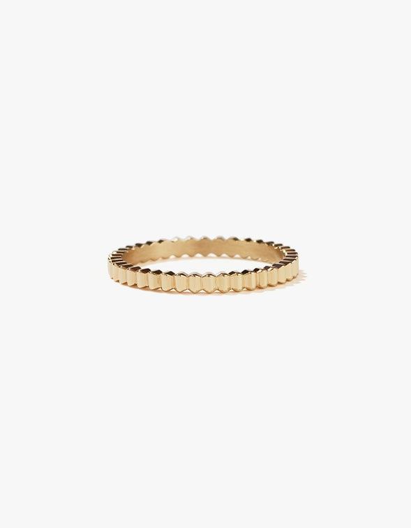 Solaire Band Narrow - Gold Plated