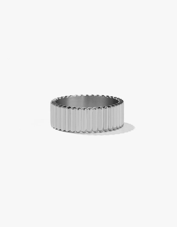 Solaire Band Wide - Sterling Silver