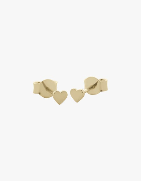 Heart Micro Studs - Gold Plated