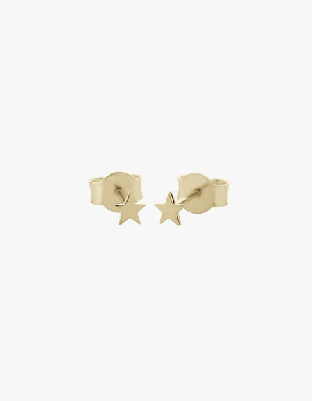 Star Micro Studs - Gold Plated