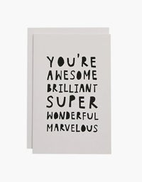 Awesome Brilliant Card - Black/White