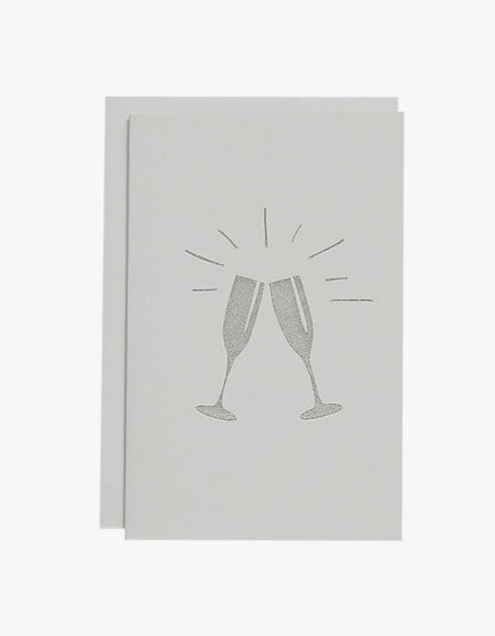 Cheers Card - Silver/White