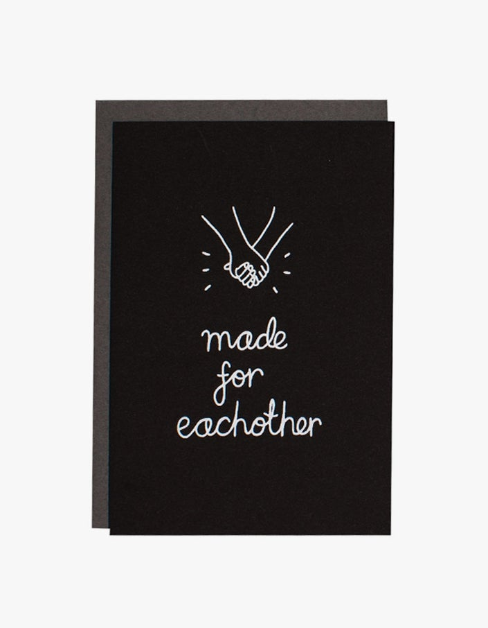 Made for Eachother Card - Black/White