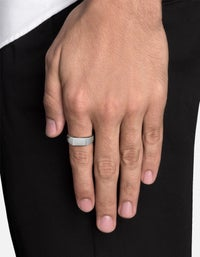 Geo Signet Ring - Polished Sterling Silver
