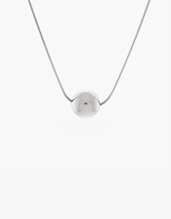 Josephine Orb Necklace - Sterling Silver