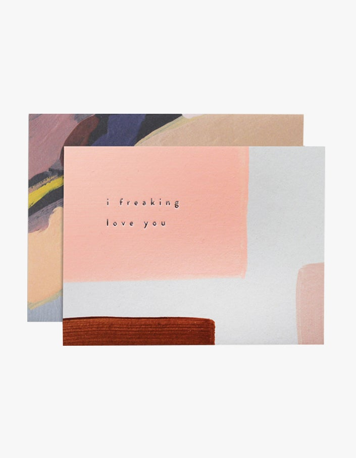 Freaking Love You Card - Pink