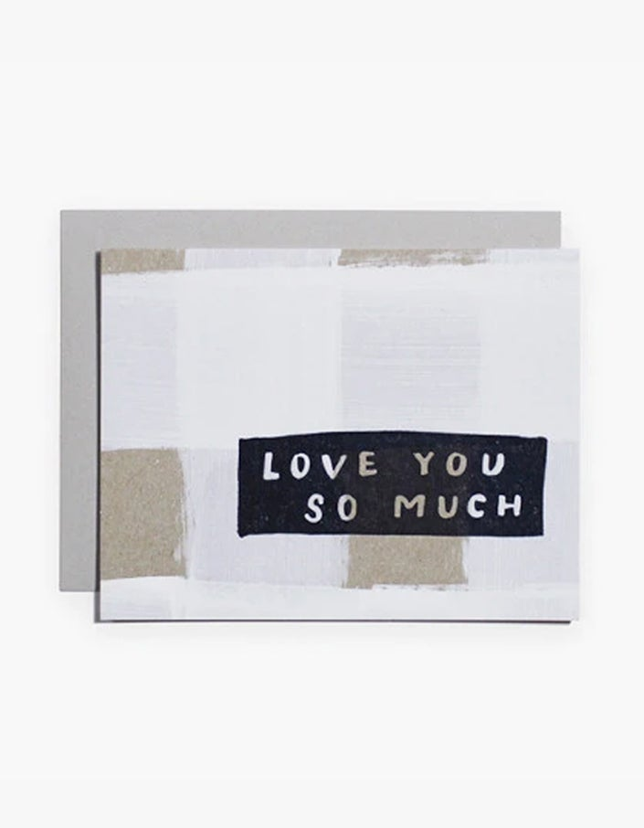 Love You So Much Card - White
