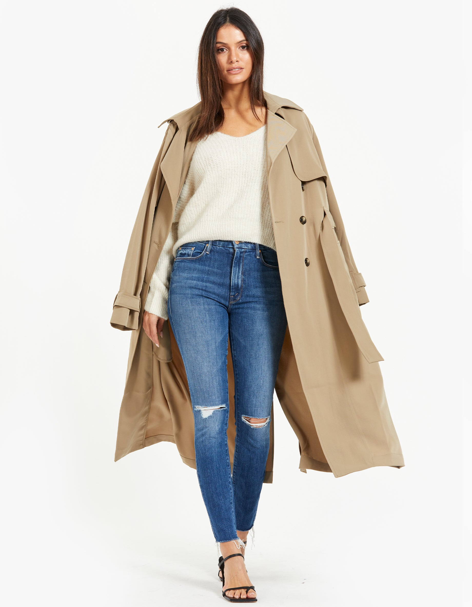 High Waisted Looker Ankle Fray - Nature Tune Up