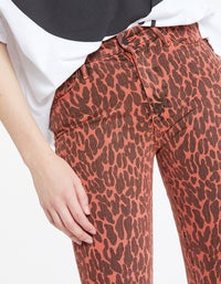 High Waisted Looker Ankle Fray - Animal Attraction