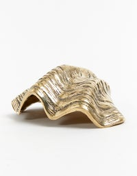 Sea Clam Shell Bowl Small - Polished Brass