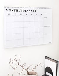 Monthly Wall Planner - White