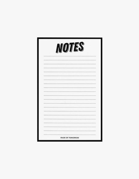 Notes Notepad - White