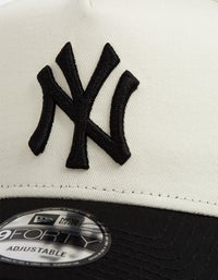 New York Yankees 9FORTY A Frame Snapback - Ivory/Black